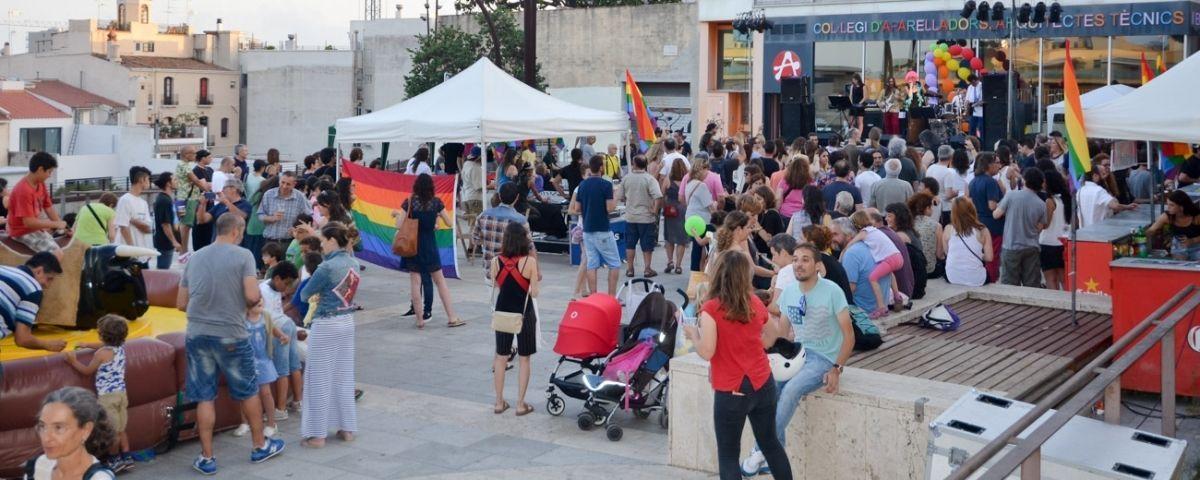 La festa a la plaça de Can Xammar. Fotos: Joan G.Jané