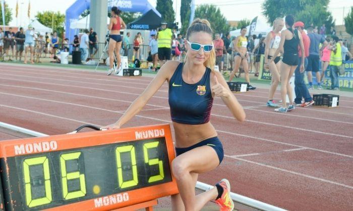 Rècord d'Espanya en 3.000 marxa de Raquel Gonzàlez al Míting de Mataró.