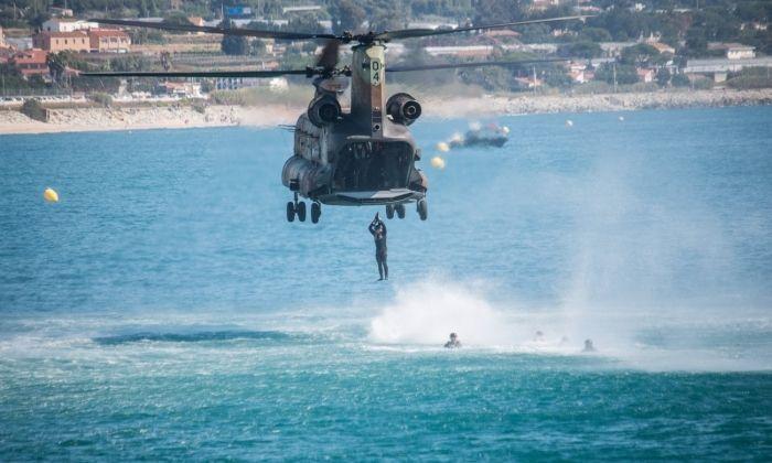 Un helicópter a l'edició de l'any passat. Foto: Daniel Ferrer