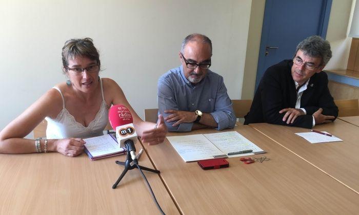 VoleMataró, ICV-EUiA i ERC en roda de premsa.
