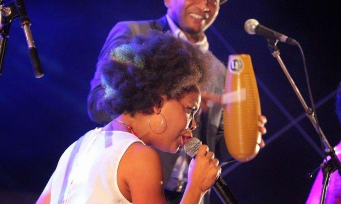 La cantant Guelmy Vazquez, dels Ashé Quintet, que obren el Festival