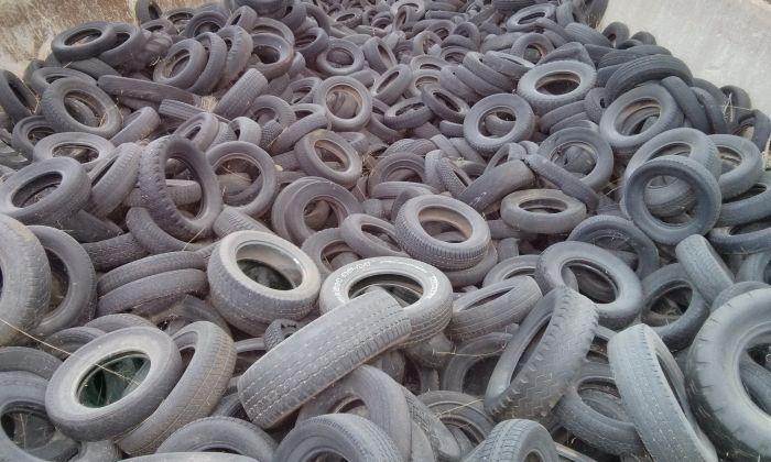 Imatge d'arxiu d'un abocador de pneumàtics