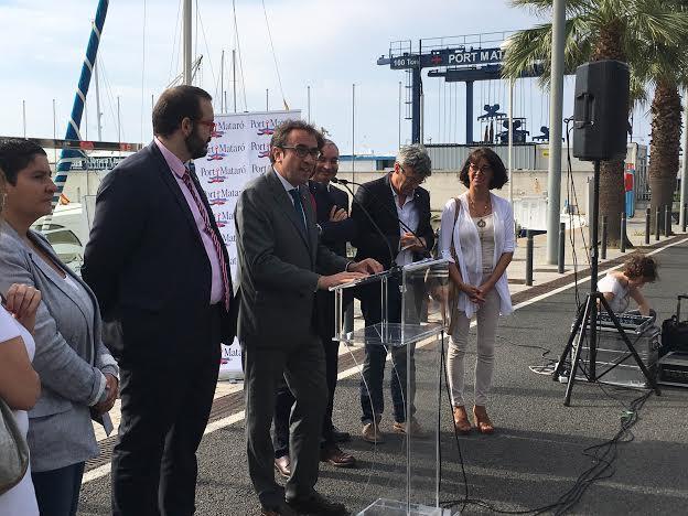 El conseller Rull a Mataró, amb l'alcalde David Bote.