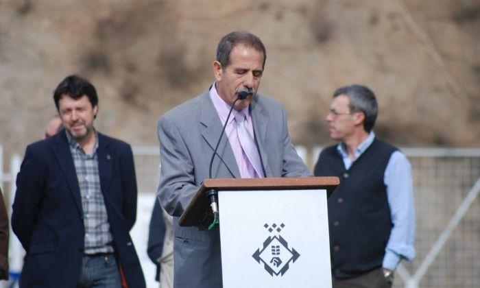 Valentín en la inauguració de la gespa al Municipal, l'any 2010.