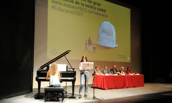 L'acte d'inauguració al Monumental. Foto: Marga Cruz / Ajuntament de Mataró