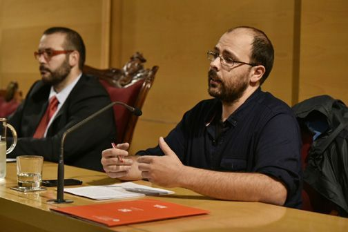 Un instant de la conferència. Foto: Ajuntament de Mataró