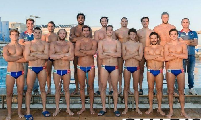 Plantilla del primer equip de Waterpolo CN Mataró Quadis temporada 2016-2017