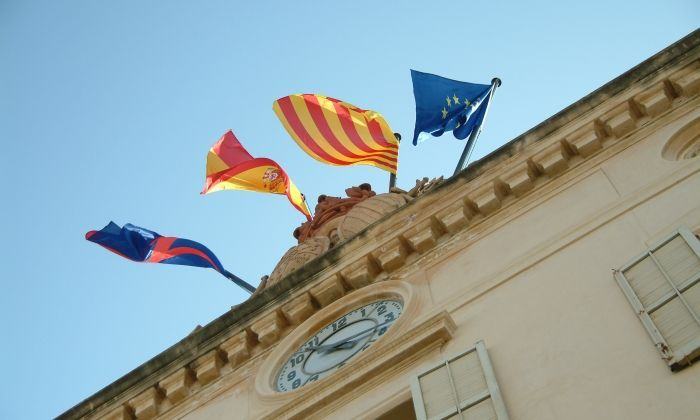 Façana de l'Ajuntament de Mataró .