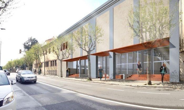 Recreació virtual de la façana. Foto: Ajuntament de Mataró