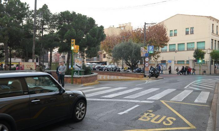 L'entrada a l'aparcament