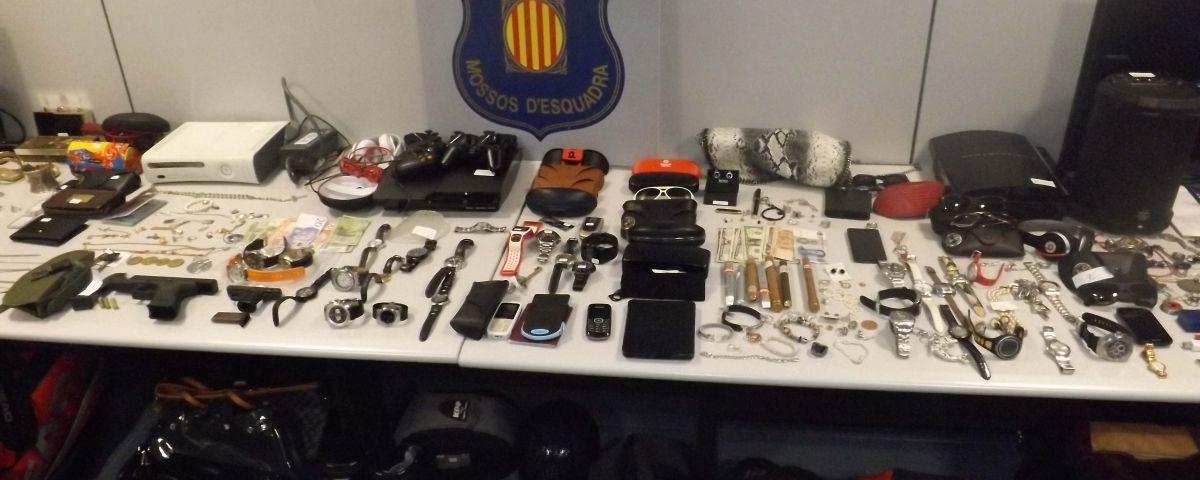 Botí d'una banda que robava a domicilis al Maresme. Foto: Mossos d'Esquadra