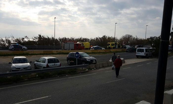 Imatge de l'accident. Foto: Cedida