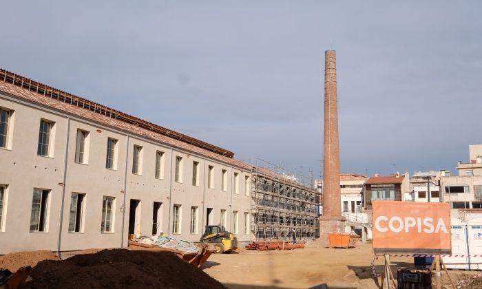 Les obres del centre educatiu que ha d'entrar en funcionament al Setembre. Foto: R. Gallofré