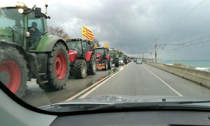 La marxa de tractors, a l'N-II