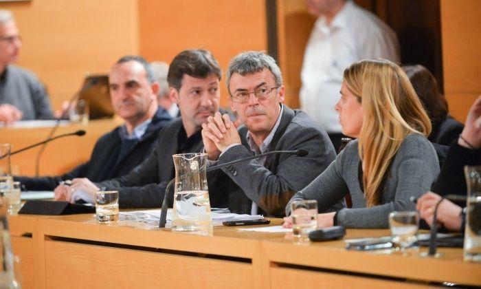 Francesc Teixidó, en una imatge al ple. Foto:R. Gallofré