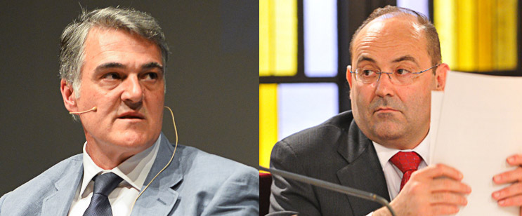 Jose Manuel López (PP) i Juan Carlos Ferrando (C's)
