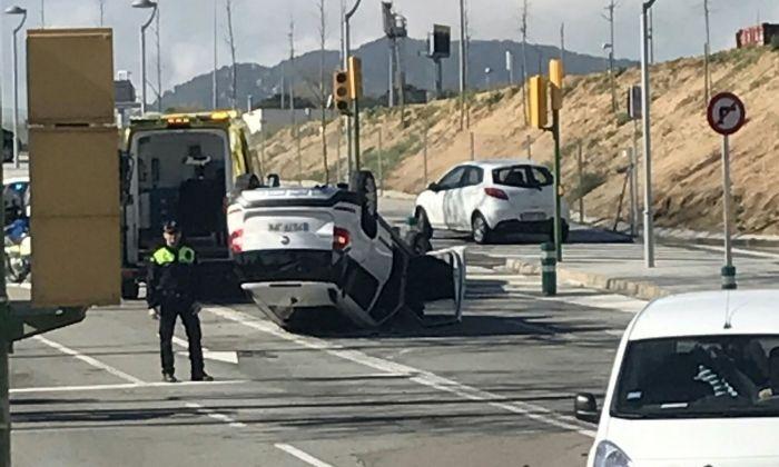 Imatge de l'aparatós accident. Foto J.A. / cerdanyola directo
