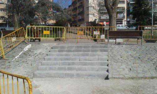 La nova escala al Parc. Foto: Ajuntament de Mataró