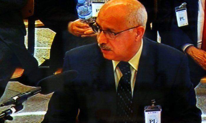 Imatge, a través de pantalla, de l'empresari Luis Andrés García 'Luigi' declarant a l'Audiència Nacional el 15 de març. Foto: ACN