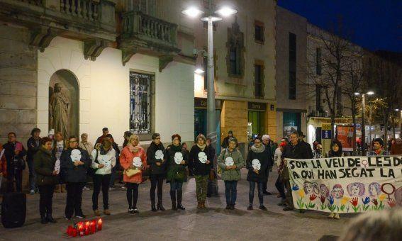 Manifestació contra la violència de gènere. Foto: Joan G.Jané