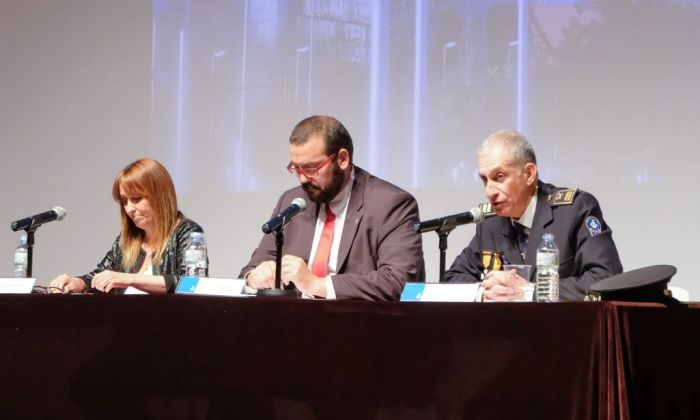 Mateo Sánchez (dreta), amb David Bote i Núria Moreno. Foto: R.Gallofré
