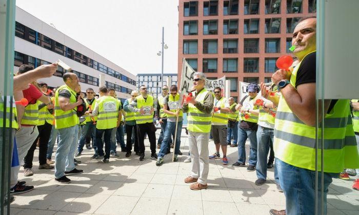Protestes al Tecnocampus. Foto: R.Gallofré