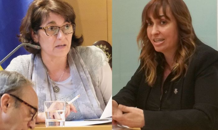 Núria Calpe i Núria Moreno.