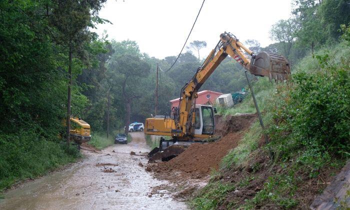 L'excavació del pou. Foto: R. G.
