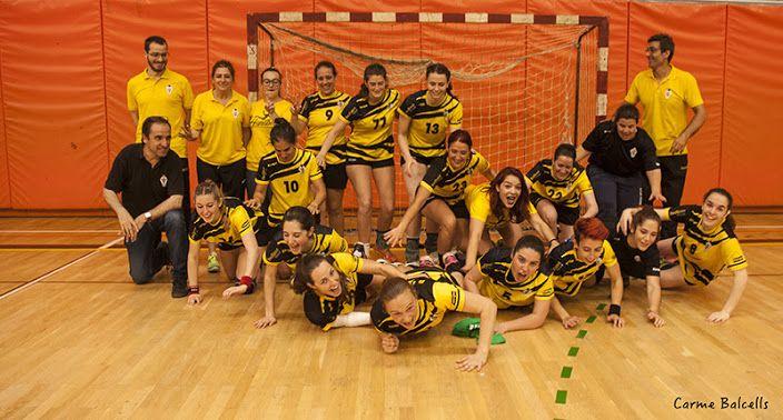 Celebració de l'equip. Foto: Carme Balcells