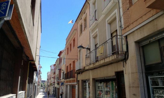 El carrer Santa Marta, a l'alçada on s'ha produït l'incident. Foto: V. B.