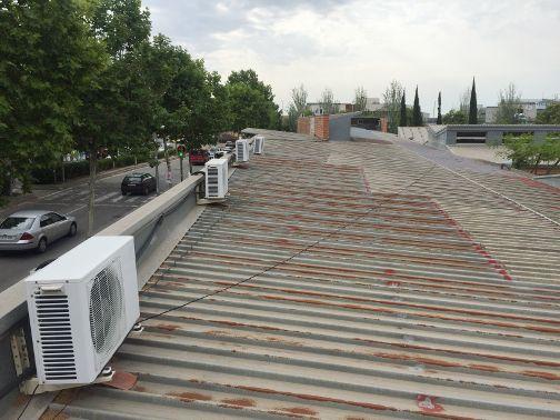 La coberta de les dues escoles. Foto: Ajuntament de Mataró
