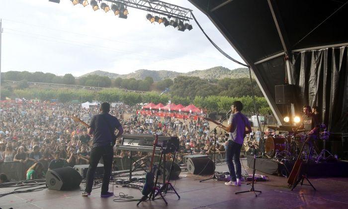 La Iaia, durant el seu concert al Canet Rock. Fotos: ACN