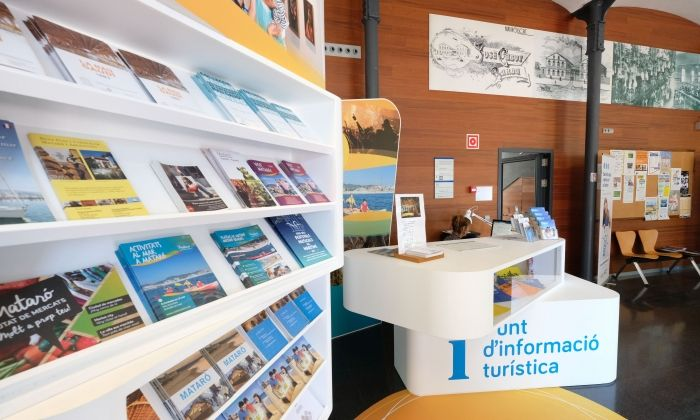 La nova oficina de turisme a la Nau Cabot i Barba. Foto: R. Gallofré