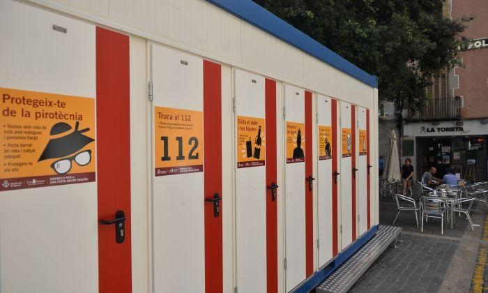 Cabines de lavabos com les que s'instal·laran als carrers