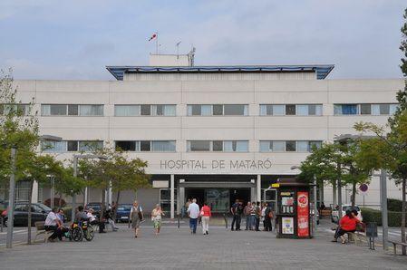 Entrada principal de l'Hospital de Mataró. Foto: Arxiu