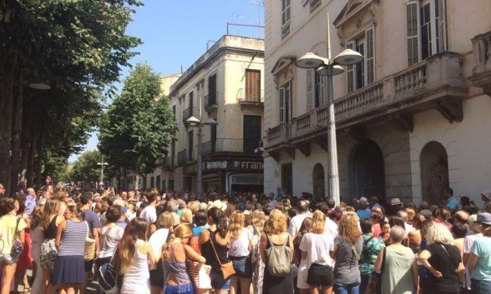 Imatge de la  concentració del 2017 després dels atemptats Foto: Ajuntament de Mataró.