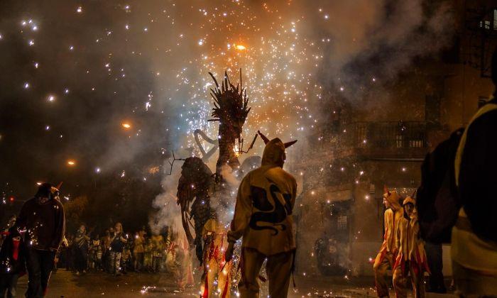 Correfor de les festes de Cirera. Foto: Associació de Veïns de Cirera