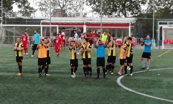 Imatge del final del partit de la setmana passada. Foto: @ce_mataro