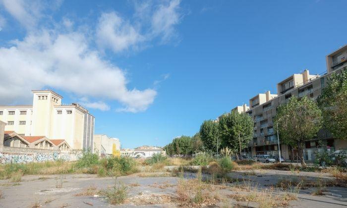 El solar on es construirà la Torre Barceló. Foto: R. Gallofré