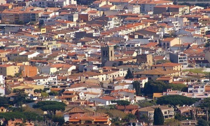 Vista aèrea d'Argentona.