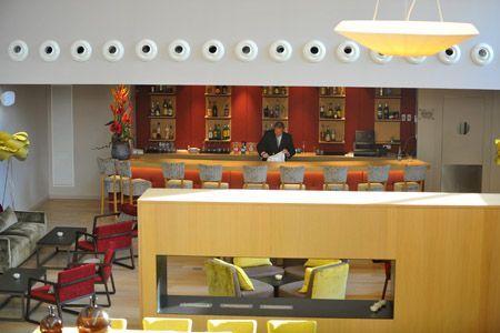 L'interior de l'Hotel Atenea