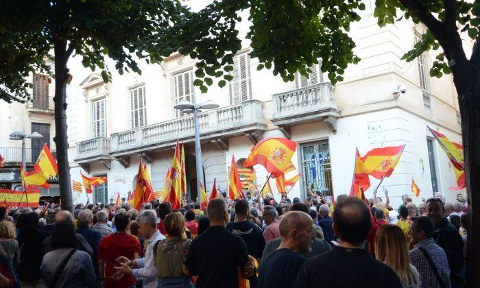 Manifestació per a la unitat d'Espanya. Foto Joan G.Jané