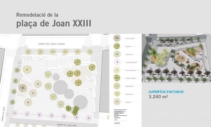 Plànol del projecte de la plaça Joan XXIII. Foto: Ajuntament de Mataró