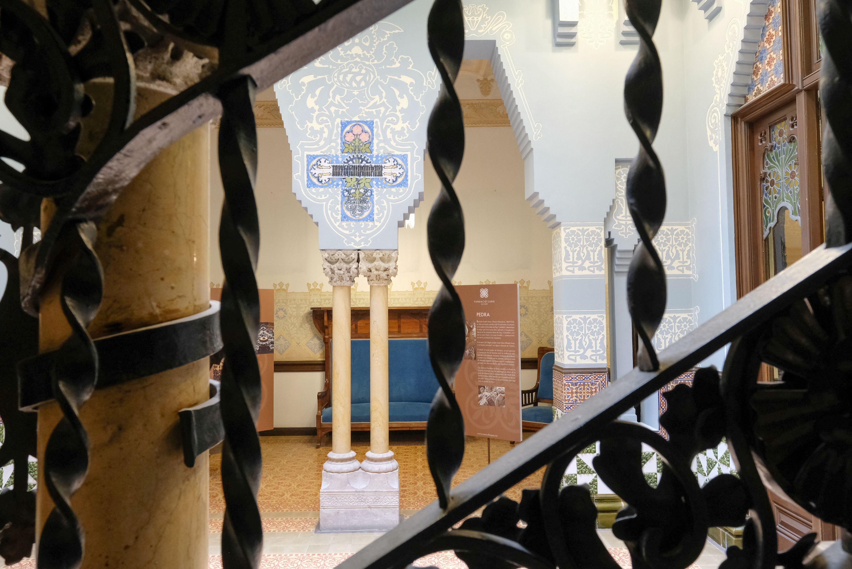 Detall de la Casa Coll i Regàs, obra de Puig i Cadafalch