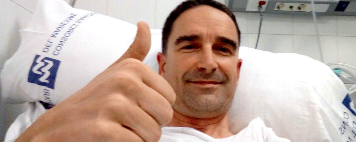 L'alcalde, a l'Hospital de Mataró