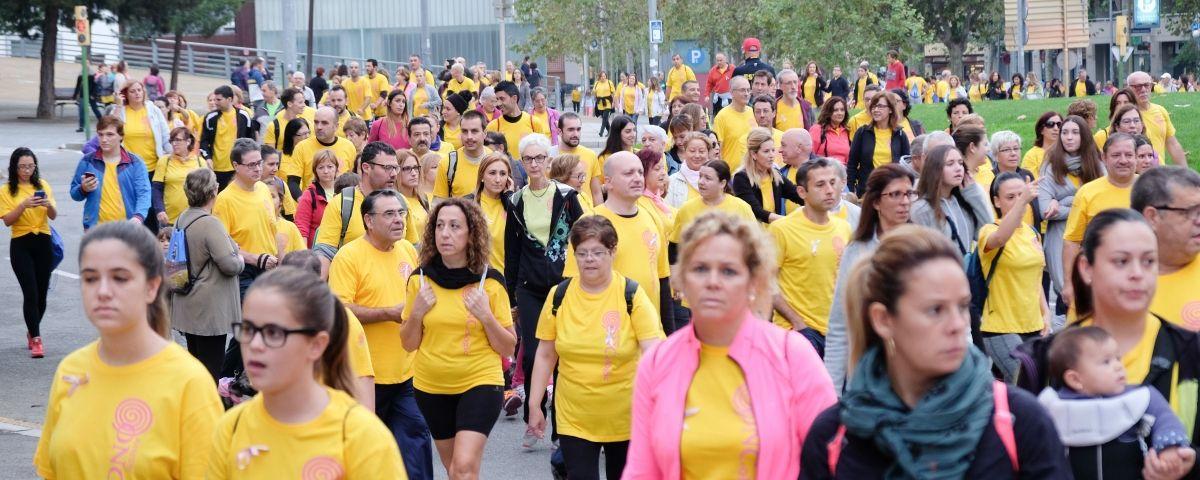 Una edició anterior de la Caminada contra el càncer de mama, organitzada per Maresme Oncològic
