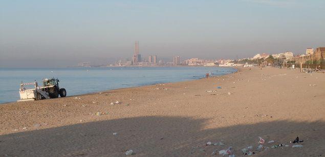 Imatge d'arxiu de la platja de Badalona