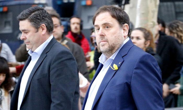 El vicepresident destituït Oriol Junqueras, en arribar a l'Audiència Nacional. Foto: ACN