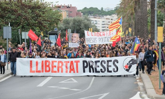 Image de la manifestació de la vaga general. Foto: R.Gallofré