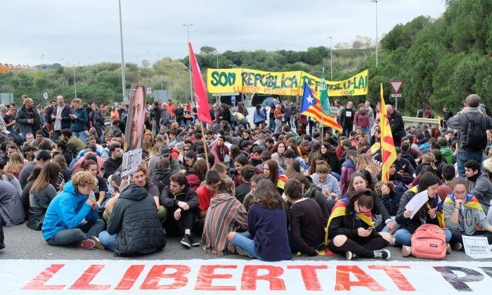 Manifestació en l'anterior vaga general. Foto: R.Gallofré